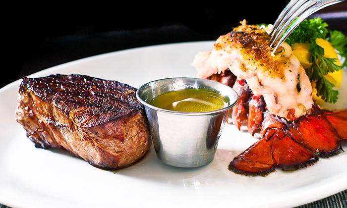 Cafe West - Trenton: Seafood and Steaks for Dinner or Lunch at Cafe West (Up to 41% Off). Three Options Available.