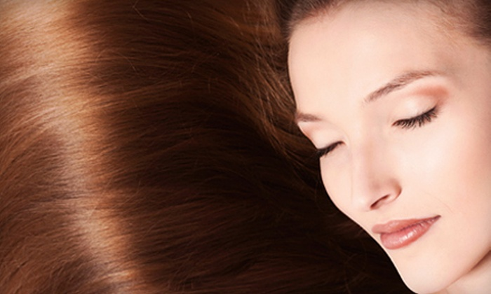 La Jolie Femme Salon & Spa - Downtown Toronto- on Wellington St, between York St and University Ave.: Haircut & Conditioning Treatment with Options for Root Touch-Up or Partial Highlights at La Jolie Femme (Up to 64% Off)