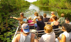 Up to 20% Off Everglades Airboat Tour  at Everglades Safari Park, plus 6.0% Cash Back from Ebates.