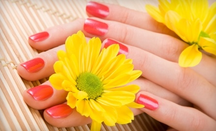 OPI Axxium Gel Manicure, Spa Pedicure, or Both at Beauty at Hand (Up to 53% Off)