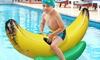 Inflatable Ride-On Banana Pool Float: Inflatable Ride-On Banana Pool Float