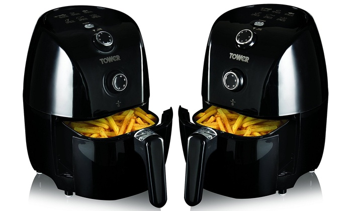 up to 47 off tower compact air fryer groupon. Black Bedroom Furniture Sets. Home Design Ideas