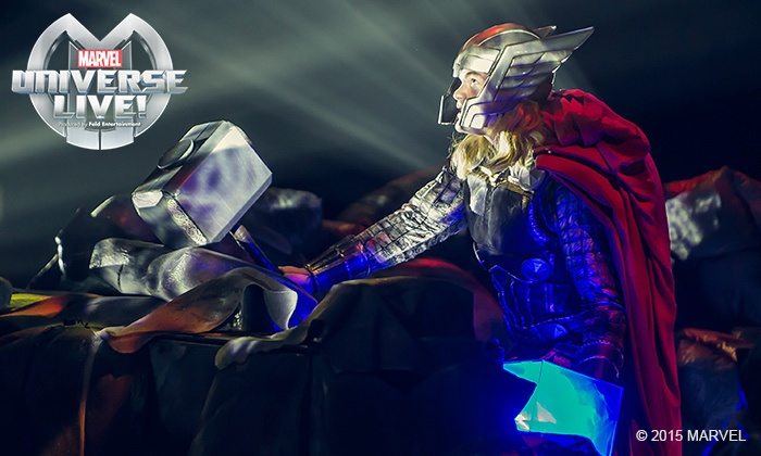 """Marvel Universe LIVE! - Multiple Locations: """"Marvel Universe LIVE!"""" on August 27 or October 29 or 31 (Up to 26% Off)"""