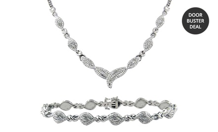 1/2 ct.tw. Diamond Necklace & Bracelet 2-Piece Set. Free Returns.