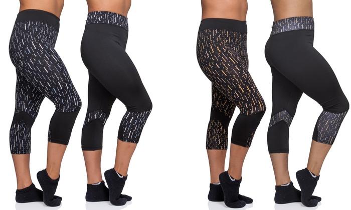 Women's Dots-Printed Capri Leggings (2-Pack)