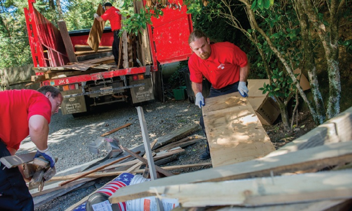 Junk Removal - Fort Worth: $99 for Three Cubic Yards of Junk Removal from Junk King ($208 Value)