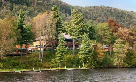 Lakefront Lodge amid Adirondacks in Upstate NY