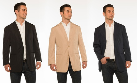 London Fog Men's Packable Travel Blazer