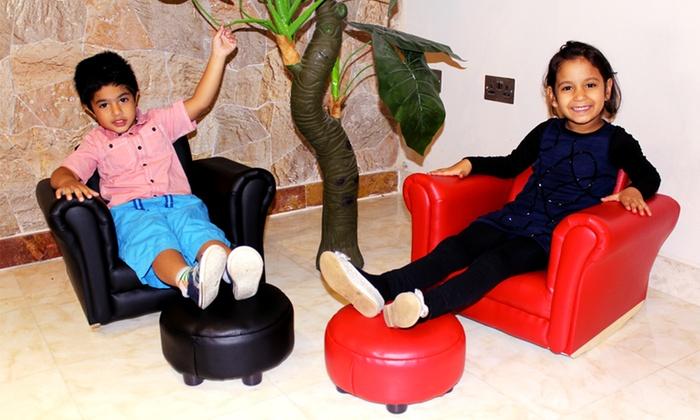 Kids Rocking Chair Footstool