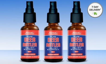 1 or 3 Bottles of American Formulators Deer Antler Spray