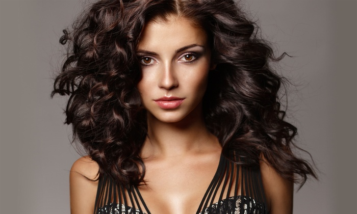 Just For You Salon - Severna Park: Brazilian Blowout or Haircut and Conditioning with Optional Highlights at Just For You Salon (Up to 66% Off)