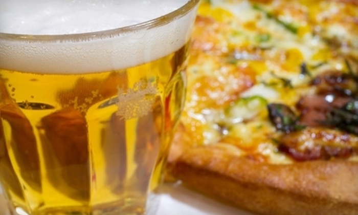 Sidelines Sports Bar - Second Ward: Pizza and Pitchers of Beer for Two, Four, or Six at Sidelines Sports Bar (Up to 55% Off)
