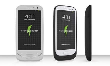mophie Juice Pack for a Galaxy S3 in Black or White. Free Returns.