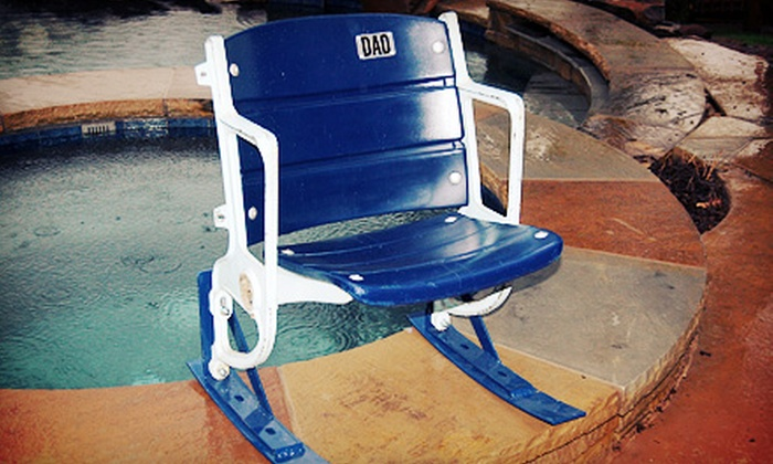 The Cowboy House - The Cowboy House: $299 for a Texas Stadium Seat Rocking Chair from The Cowboy House ($598 Value)