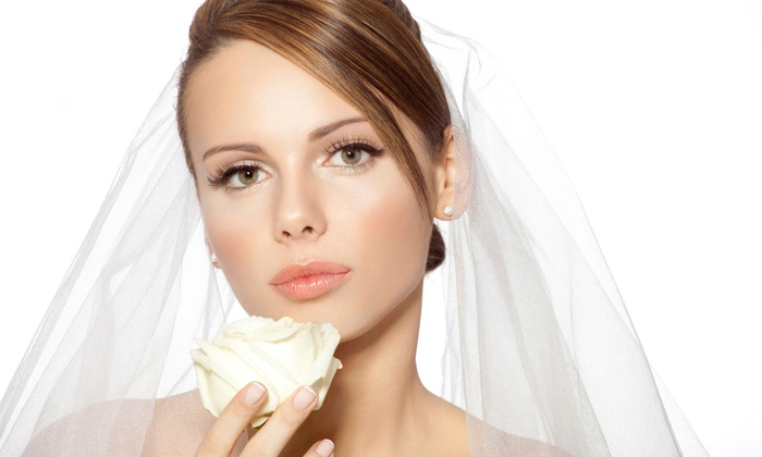 Bridal Makeup Package - Flushing: Bridal Makeup Package for One Bride or Six Bridesmaids (Up to 51% Off)