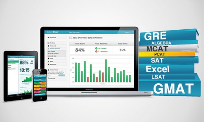 BenchPrep: $29 for a Test-Prep Course ($150 Value). GRE, GMAT, SAT, LSAT and More Courses Available from BenchPrep.