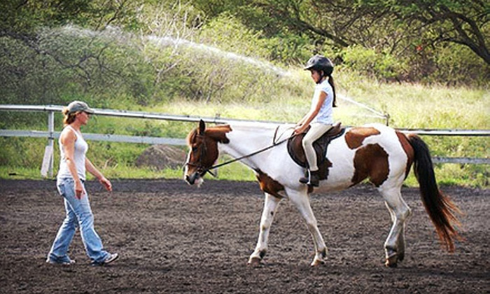 Koko Crater Stables - Hawaii Kai: One-Hour Group Horseback-Riding Lesson, or Trail Ride for One, Two, or Four from Koko Crater Stables (Up to 55% Off)