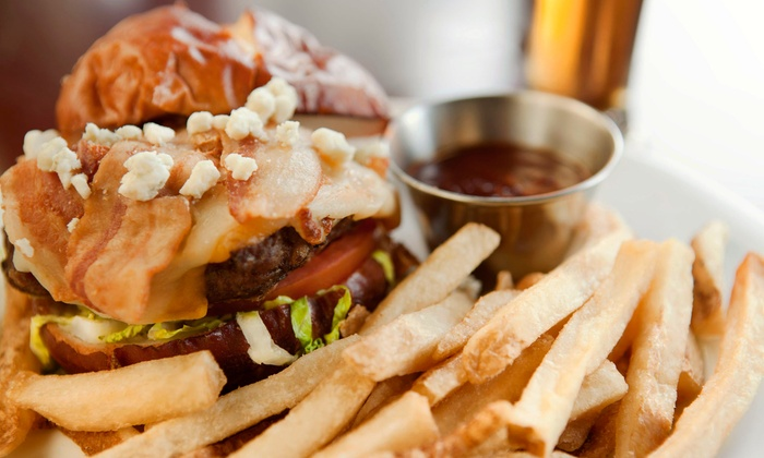 Rok Bar n Grill - East Greenwich: Burgers or Sandwiches with Appetizers and Beer for Two or Four at Rok Bar n Grill (Up to 53% Off)