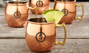 $23.99 For Four Customized Miniature Moscow-mule Mugs From Moscow Mule Time ($69.99 Value)