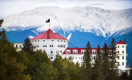 Stay at Omni Mount Washington Hotel in Bretton Woods, NH. Dates Available into January.