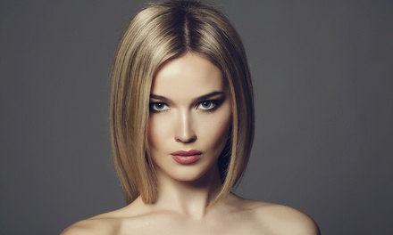 Haircut, Deep-Conditioning, Style with Optional Eyebrow Wax at A Head Of Class Salon & Day Spa (Up to 45% Off)