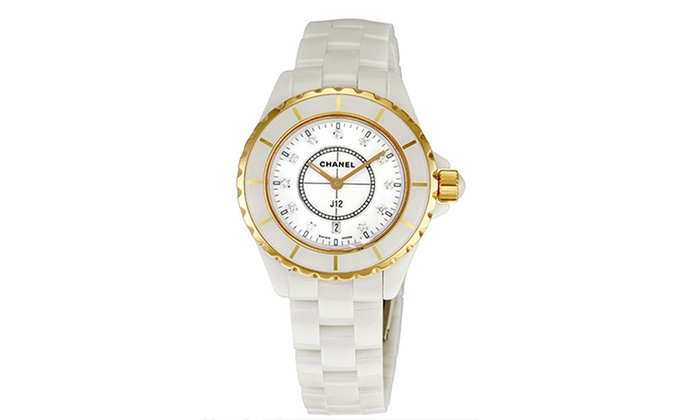 Clearance chanel women 39 s watches groupon for Watches clearance