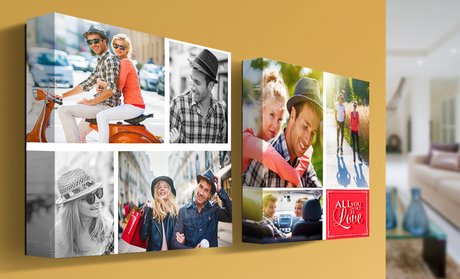 Custom Collage Canvas by PrinterPix (1 or 2-Pack)
