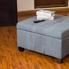Hudson Fabric Storage Ottoman in Slate Gray