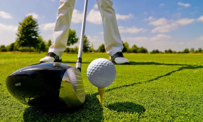 """Accès parcours de golf """"Green Fee"""", 5 cours de golf ou 1 mois de cours illimité au choix dès 15 € au DailyGolf Hermitage"""