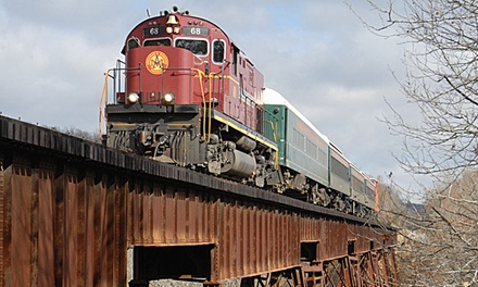 Wild, Wild West Winter Train Excursion for One or Two from Arkansas & Missouri Railroad (40% Off)