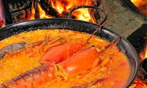 A Buen Puerto: Menú para 2 o 4 personas con surtido de 3 entrantes, principal de arroz, postre y bebida desde 24,90 € en A Buen Puerto
