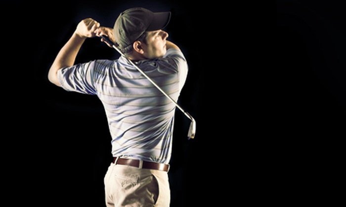 Cyber Creek Indoor Golf - Elma: Nine-Hole Round of Golf-Simulator Play for One, Two, or Four at Cyber Creek Indoor Golf (Half Off)