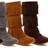 Shoes of Soul Women's Fringe Moccasin Boot