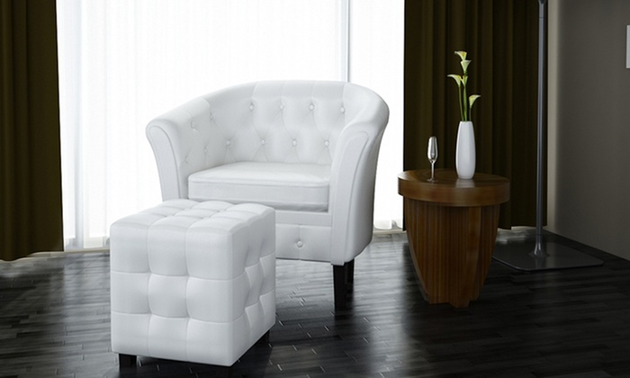 Poltrona chesterfield e pouf groupon goods - Vida xl international bv ...