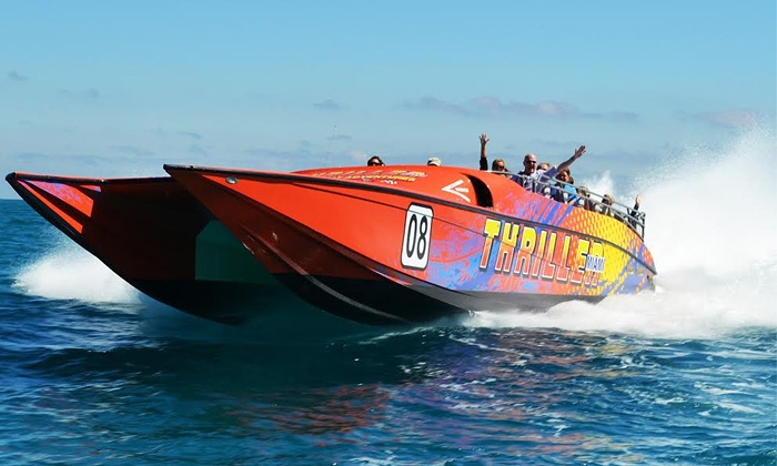 Thriller Miami Speedboat Adventures - Downtown Miami: Speedboat Tours from Thriller Miami Speedboat Adventures (Up to 24% Off)