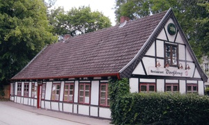 "Restaurant Dorfkrug Boberg: 3-Gänge-Menü ""Boberger Düne"" für 2 oder 4 Personen im Restaurant Dorfkrug Boberg (bis zu 58% sparen*)"