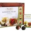 Numi's Flowering Tea Gift Set in Dark Mahogany Bamboo Case