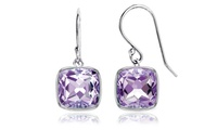 3.50 CTW Genuine Amethyst Drop Earrings