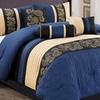Luxury Embroidered Design Comforter Set (7-Piece)