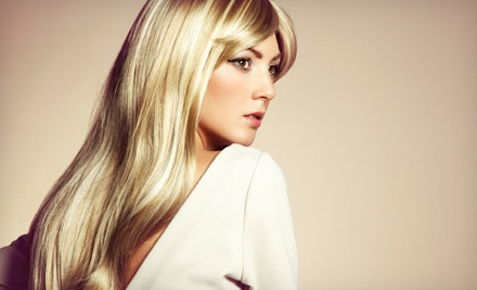 Haircut and Style or Highlights with Conditioning Treatment and Blow-Dry at Infinite Color (Up to 53% Off)