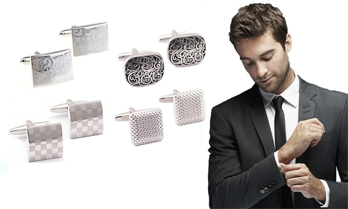 Ever Mercantile Limited: Men's Cufflinks - One ($12), Two ($19) or Four Pairs ($29)