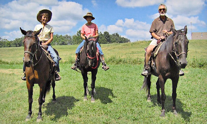 All Hoofed Up Ranch - Vernon: One- or Two-Hour Horseback Trail Ride at All Hoofed Up Ranch (Half Off)