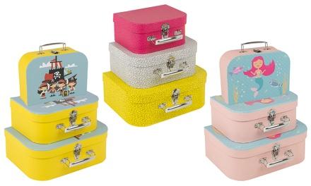 Kids' Three-Piece Suitcase Set