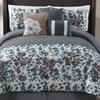 Flora Embroidered Comforter Set