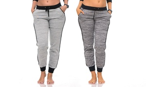 Coco Limon Women's Heather Joggers (2-Pack) at Coco Limon Women's Heather Joggers (2-Pack), plus 9.0% Cash Back from Ebates.