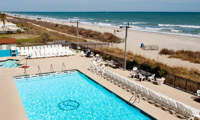 Landmark Resort - Myrtle Beach, SC: One- or Three-Night Stay with Option for a Large Pizza at Landmark Resort in Myrtle Beach, SC