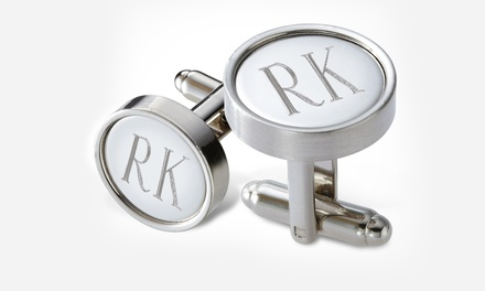 $24.99 for Personalized Round Metal Cufflinks from Monogram Online ($69 Value). Free Shipping.