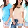 Lyss Loo Women's Plus-Size Pretty Peplum Top