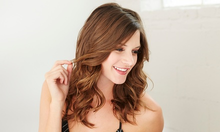 Cut, Wash and Blow-Dry with Optional Half Head of Highlights at Hair de la Reine (Up to 54% Off*)