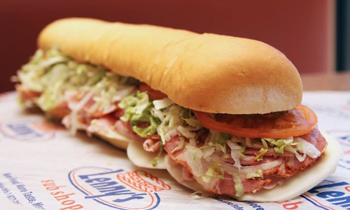 Lenny's Sub Shop - Madison: $11.50 for Two Groupons, Each Good for $10 Worth of Sandwiches and Drinks at Lenny's Sub Shop ($20 Value)